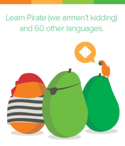 Learn Pirate (we arrren't kidding) and 60 other languages