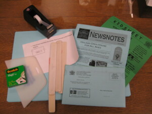 Friends fold library newsletters