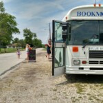 Bookmobile customers at Salamonia Park